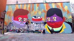 Street art du mariage homosexuel par Kashink a Canal Saint-Martin. Photo: Fernanda Hinke (1)
