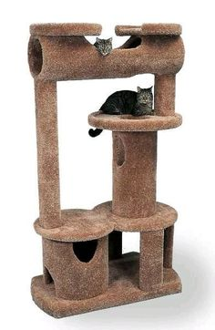 The Cat-sle Royale Cat Tower - CatsPlay Superstore Cat Tree Plans, Cat Climber, Cat Tree House, Diy Cat Tree, Cat Towers, Cat Stands, Super Cat, Cat Room, Cat Condo