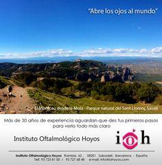 """IOH Instituto Oftalmológico Hoyos, presenta: """"Abre los ojos al mundo"""". Una bella sección que comparte paisajes que no te puedes perder."""