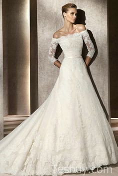 Google Image Result for http://tesbuy.com/Public/Uploads/Products/20111223/A%2520Line%2520Lace%2520Off%2520The%2520Shoulder%2520Gorgeous%2520Bridal%2520Gowns%2520With%2520Sleeves.jpg