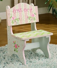 Crackled Rose 'Time Out' Chair by Teamson Design on #zulily