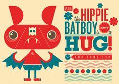 All the hippie batboy wants is a hug! | Richard Perez | http://skinnyships.com/