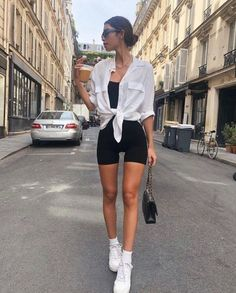 Cute Casual Outfits, Boho Outfits, Sport Outfits, Spring Outfits, Winter Outfits, Outfit Ideas Summer, Summer Shorts Outfits, Summer Workout Outfits, Shorts Outfits Women