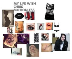 """my life with chris motionless"" by bvbarmypurdygirl ❤ liked on Polyvore featuring Lime Crime, Cartel Ink, Marcelo Burlon and Milly"