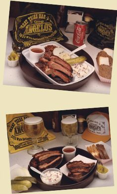 Angelos Barbecue in Ft Worth, TX - an institution - famous for their smoked brisket and frosty mugs of beer