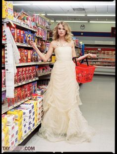 love this dress - Taylor Swift supermarket shopping in the candy aisle