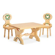 Kirsten's Trestle Table & Chairs II
