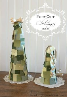 Making-Home-Base-Paint-Chips-Christmas-Trees