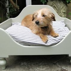 """Handmade-Wooden-Dog-Beds-Raised-Handpainted-Wooden-Dog-Beds"""