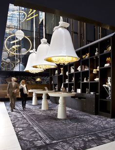 Marcel Wanders' design magic for the Andaz Prinsengracht Hotel, Amsterdam. Interior Desing, Restaurant Interior Design, Top Interior Designers, Luxury Restaurant, Luxury Interior, Hotel Lobby Design, Design Café, Design Ideas, Design Trends