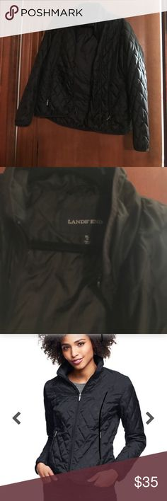 Lands End Women's Primaloft Travel Jacket XL Like new!  Lands end classic travel jacket. Black. Perfect for winter!  New price at $85. Size XL Lands' End Jackets & Coats
