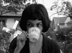 Amelie Poulain and a coffee cup.