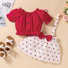 Baby Girl Frocks, Frocks For Girls, Kids Outfits Girls, Little Girl Outfits, Cute Outfits For Kids, Toddler Girl Dresses, Baby Girl Skirts, Baby Girl Dress Design, Girls Frock Design