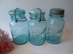 Vintage Aqua Ball Canning/Mason Jar Collection of by jenscloset, $28.50