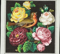 Rose Embroidery, Vintage Embroidery, Cross Stitch Embroidery, Embroidery Patterns, Cross Stitch Rose, Cross Stitch Animals, Cross Stitch Flowers, Cross Stitch Collection, Needlepoint Kits