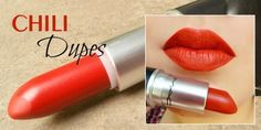 MAC Chili Dupes: Getting Hotter Day By Day ;) http://www.glossypolish.com/mac-chili-dupes-getting-hotter-day-by-day/#lipstick #redchilidupes <3