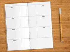 UNDATED Weekly Calendar Basic Edition  Midori by FrasizzleMade