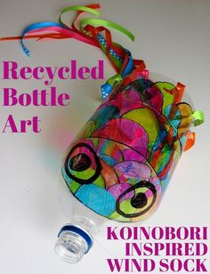 Art Projects for Kids: Recycled Bottle Koinobori | Childhood101 http://childhood101.com/2013/06/art-projects-for-kids-recycled-bottle-koinobori/