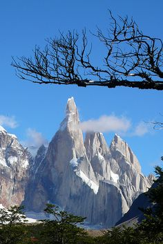 Cerro Torre, El Chaltén, Patagonia, Argentina (****See similar Pins of Cerro Torre and Laguna Torre throughout. Ushuaia, Argentine Buenos Aires, Places To Travel, Places To See, Travel Destinations, Places Around The World, Around The Worlds, Wonderful Places, Beautiful Places
