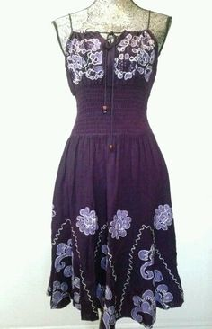 BOHO GYPSY EMBROIDERY DRESS FESTIVAL KNEE LENGTH HIPPIE INDIA SEXY KEYHOLE S M L #ADVANCEAPPARELS #Sheath #Casual