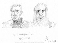 Christopher Lee, immortel.  ‪#‎christopherlee‬ ‪#‎sirchristopherlee‬ ‪#‎RIP‬ ‪#‎saroumane‬ ‪#‎countdooku‬ ‪#‎lordoftherings‬ ‪#‎starwars‬ ‪#‎croquis‬ ‪#‎dessin‬