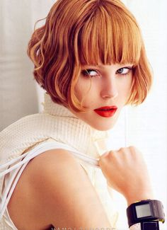 Great cut, gorgeous color. real-simple-finds-favorite-hair-makeup-looks