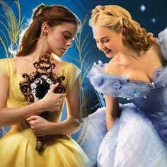 Live-action Belle and live-action Cinderella