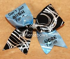 Don't Just Wish For It Cheer Bow by MyFierceBows on Etsy, $13.50