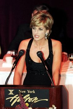 December 11, 1995, receiving her award as Humanitarian of the Year in New York