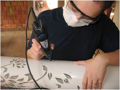 Carving PVC with a dremel.