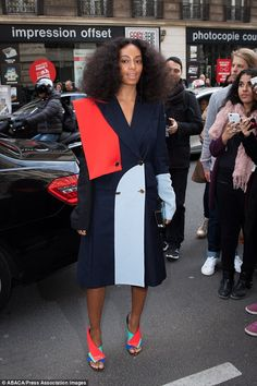 City chic: Solange Knowles managed to steal the spotlight when she rocked up to the Vivien...