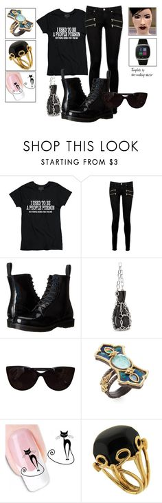 """""""Untitled #1940"""" by the-walking-doctor ❤ liked on Polyvore featuring Paige Denim, Dr. Martens, Alexander Wang, Tiffany & Co., Armenta, Valentin Magro and iTouch"""