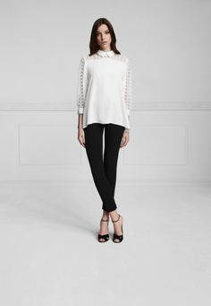 Anne Fontaine shirt with cutout emboidery on the sleeves White Shirts, Normcore, Product Description, Awesome, Sleeves, Clothes, Style, Fashion, Anne Fontaine