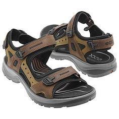 ECCO Yucatan - my FAV walking sandal. Another one that isn't technically a wide but the sandal is adjustable all over the place the footbed accommodates wide feet. I will definitely buy another pair when/if my current pair wear out.