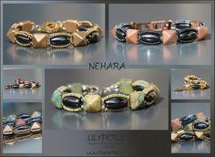 Bracelets Perles ovales Hématite Perles à deux trous by Lilyperles