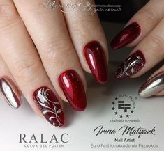 In order to provide some inspirations for your winter nail art designs, we have specially collected 72 winter nails red colors for your short nail designs. Classy Nails, Fancy Nails, Cute Nails, Pretty Nails, Xmas Nails, Red Nails, Christmas Nails, Short Nails Art, Latest Nail Art