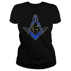 Awesome Tee CHRISMAS COMPASS  SQUARE ROYAL BLUE  GOLD T shirts