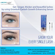 Get #Longer,#thicker and #beautiful #lashes by using #Growlash #Eyelash #Growth Enhancing Serum.