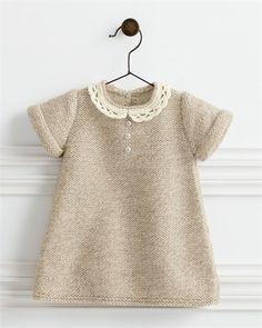 Bergere de France Lace Collar Dress Pattern http://www.intoknit.co.uk/Public/babies-patterns_ProductGroup27.aspx