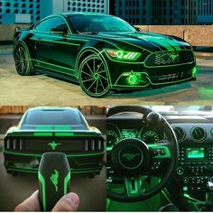The neon mustang