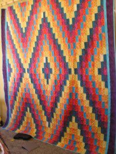 Bright Navajo quilt