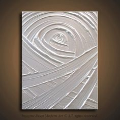 14x11  14x11 High Quality Original Art - Ready to Ship - Beautiful and Deep Texture - Modern Pearl White Sculptural Impasto Painting       by ImagineDeepModernArt