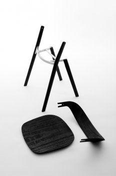 Pila chair  2012 Pila Chair  Plain wood, ply wood, die cast aluminium 455 x 660 x 770 mm