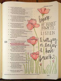 ideas for Bible Art and Bible Journaling!Enjoy ideas for Bible Art and Bible Journaling! Faith Bible, My Bible, Bible Scriptures, Bible Quotes, Pray Quotes, Bible Drawing, Bible Doodling, Psalm 121, Scripture Art