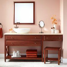 Cherry Finish Vessel Sink Vanity | Signaturehardware.com