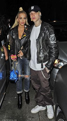 Date night: The 24-year-old singer was joined at Libertine nightclub by her boyfriend Ricky Hil