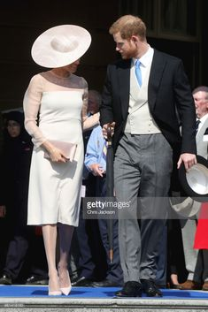 (L-R) Prince Harry, Duke of Sussex and Meghan, Duchess of Sussex attend The Prince of Wales' 70th Birthday Patronage Celebration held at Buckingham Palace on May 22, 2018 in London, England.  (Photo by Chris Jackson/Chris Jackson/Getty Images)