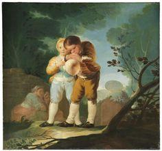 Niños inflando una vejiga - Colección - Museo Nacional del Prado