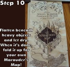 Harry Potter Paraphernalia: Marauder's Map: Inside and Outside
