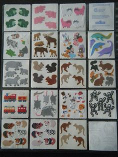 Fuzzy stickers by Katy's Collectables, via Flickr